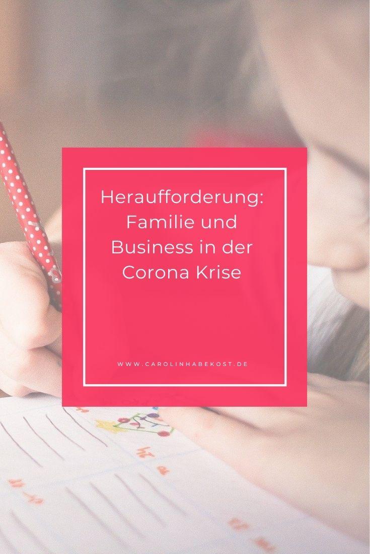 Corona Krise Familie